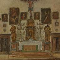 1940. L'Interno della Chiesa di San Pietro a Trau