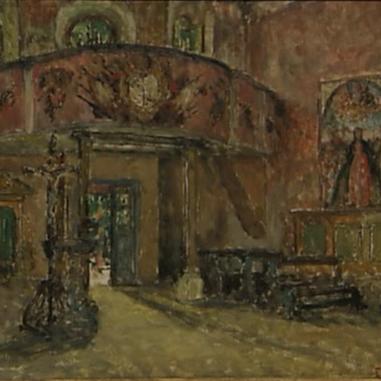 1944. Interijer crkve u Poljudu