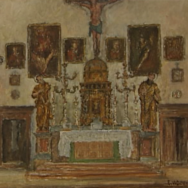 1940. Interior of St. Peter's Church