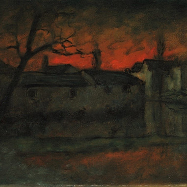 1921. The Peasants' Houses at Jadro