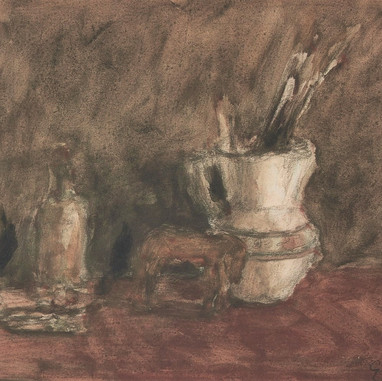 1944. A Jug with Brushes