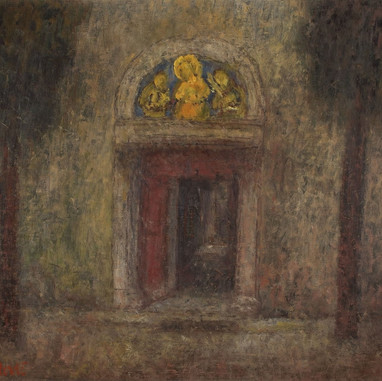 1940. Portal of the Monastery at Poljud
