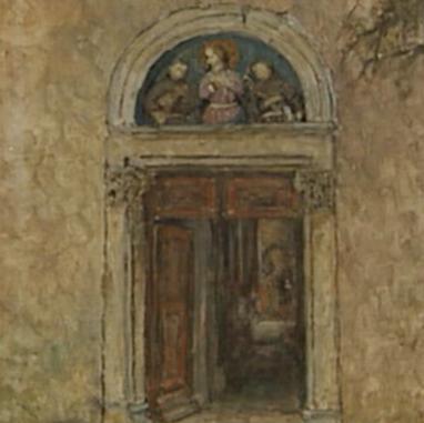 1940. Portal of the Church at Poljud