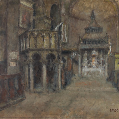 1940. Inside the Trogir Cathedral