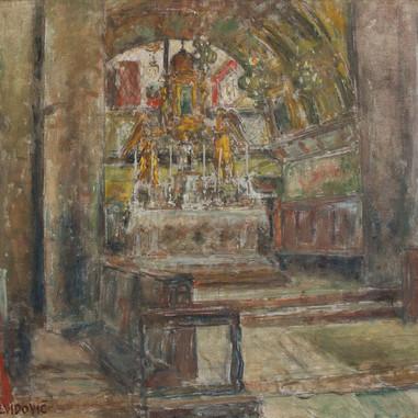 1938. Unutrašnjost crkve Sv. Duje