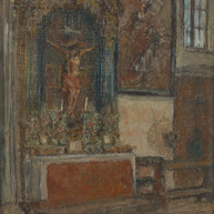 1940. L'Interno della Chiesa di San Michele a Trau