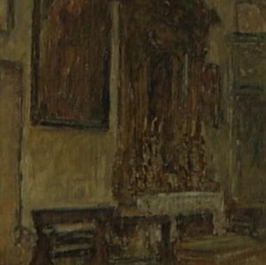 1940. Unutrašnjost Sv. Mihovila u Trogiru