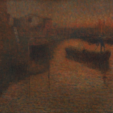 1914. - 1918. Evening in Chioggia