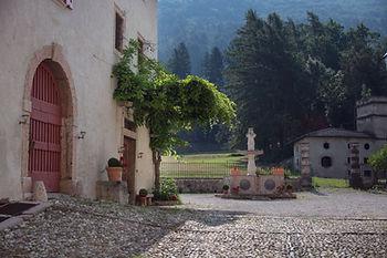 Cortile interno della VillaCiano Bassetti di Lasino