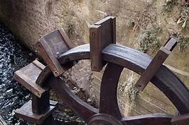 Ruota di un vechio mulino a Calavino