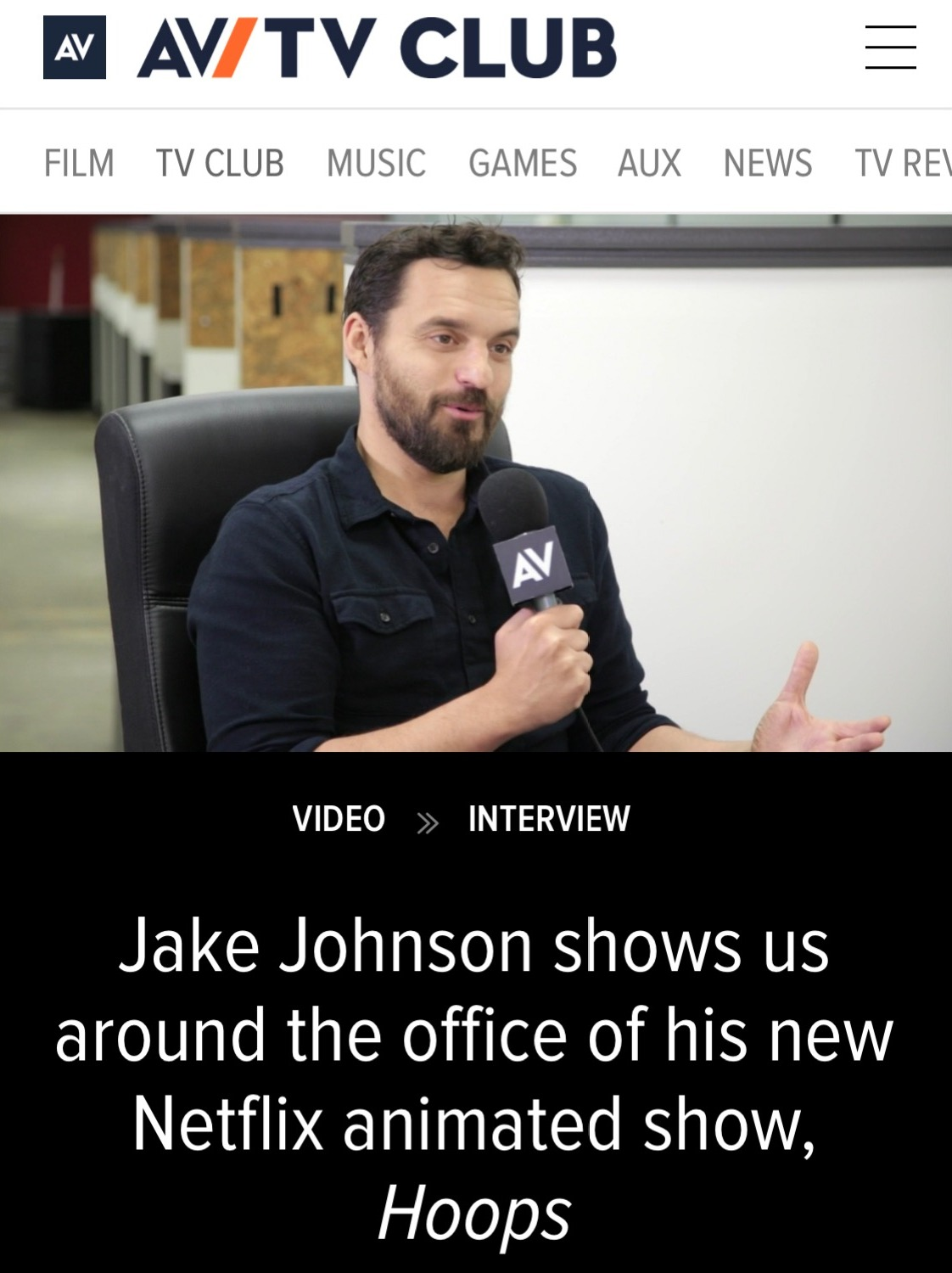 "Jake Johnson ""Hoops"" Interview"