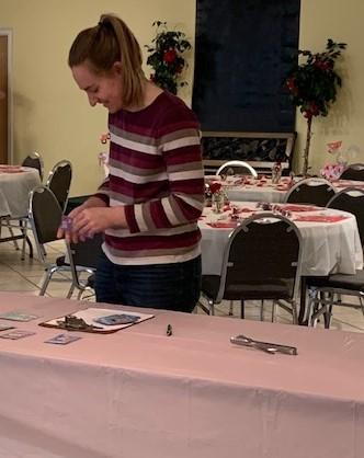 Valentine's Banquet preparations