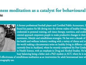 Mindfulness meditation as a catalyst for behavioural change