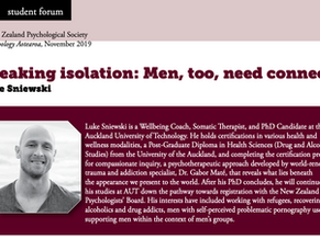 Breaking isolation: Men, too, need connection