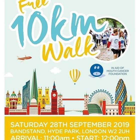 10km Mouth Cancer Foundation Hyde Park Walk