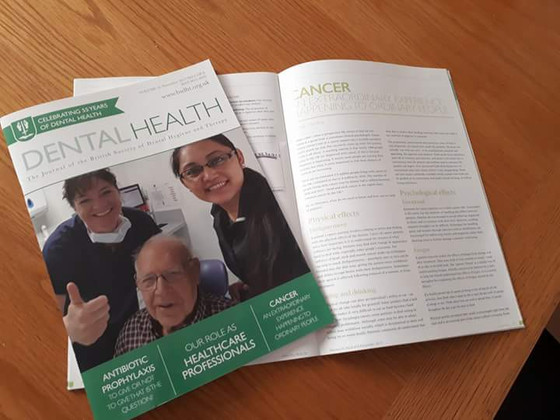 BSDHT (dental publication) Cancer - an extraordinary experience by ordinary people.