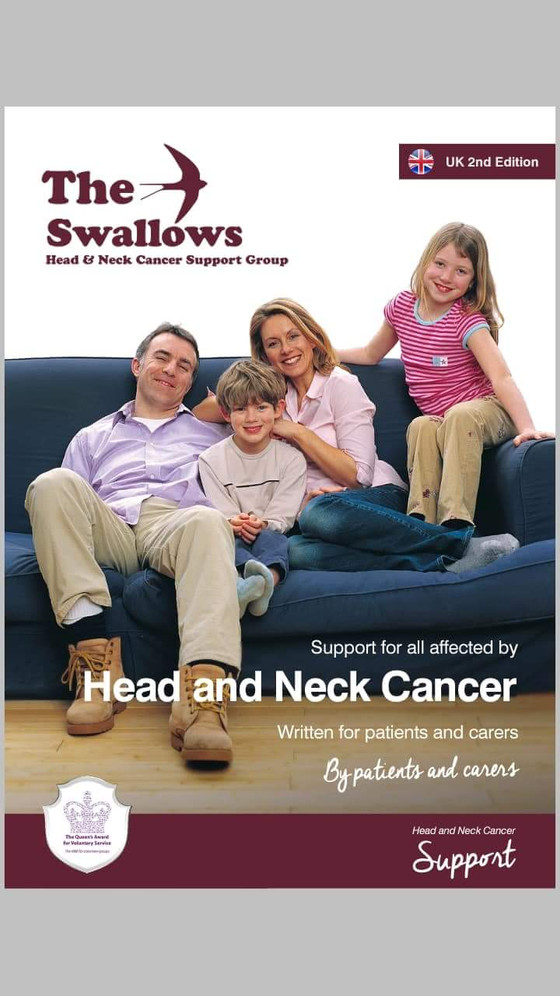 The Swallows Head and Neck Cancer Support Group 2nd edition UK leaflet. Very honoured to be a part o