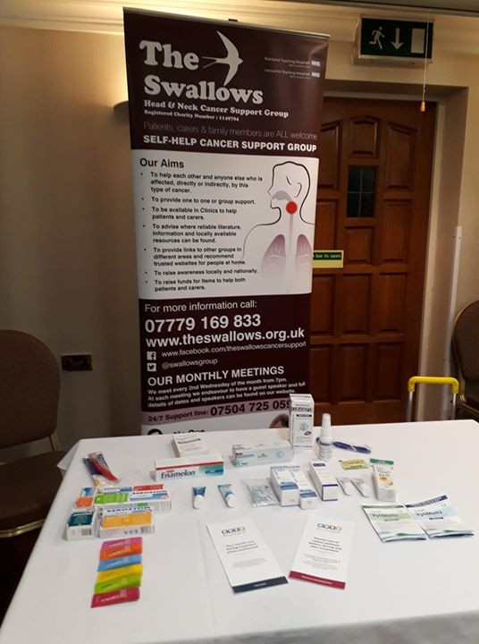 The Swallows Presentation in Worcester - helping with suggestions for mouth care for head and neck c