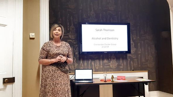 Addiction - Cirencester Cluster CPD Group. a wonderful evening of presentations from Megan Thomas (B