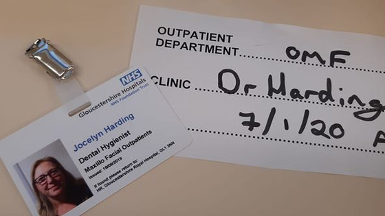 Start 1st day working as the Dental Hygienist in Maxillo Facial Outpatients. Honoured to be a part o