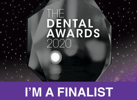 "Honoured to be a finalist in The Dental Awards in the ""Best Outreach or Charity Initiative&quot"