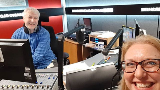 lovey to be invited back by Dominic Cotter as his special guest at Radio Glos. I didn't talk all