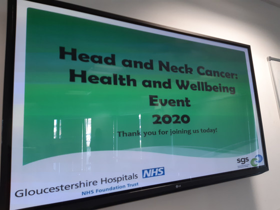 Head and Neck Cancer Wellbeing event kindly invited by @BrushUpUk to present to patients within thei