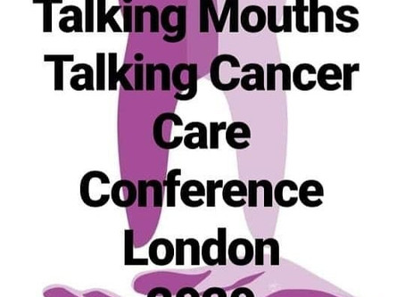 Talking Mouths- Talking Cancer Care charity fundraising conference 2/10/2020 London - 7 days until b
