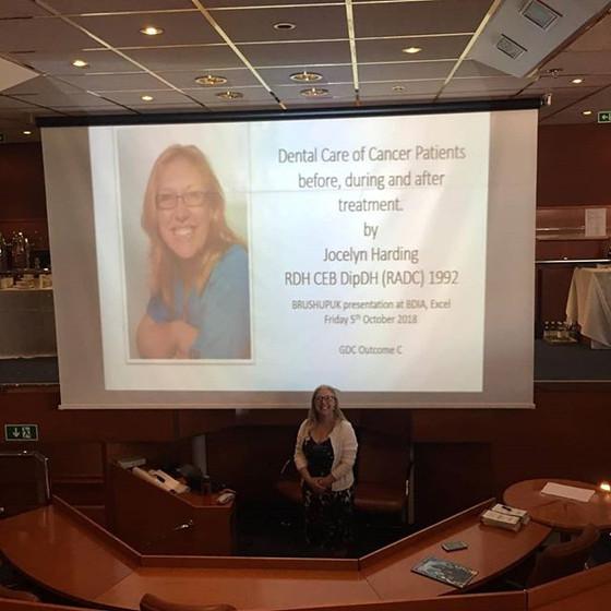 BDIA BrushUpUk Sunborn Yacht presentation. alongside 2 great speakers - Dr Ewa Rozwadowska and Nicho