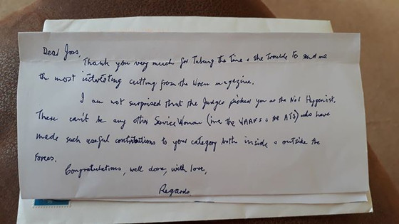 Ex Navy WW2 patient letter of congratulations.