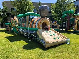 Jungle Train Inflatable Bouce House Rental