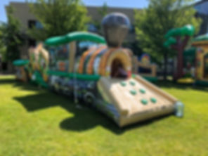 Jungle Train Inflatable Rental