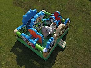 Zoo Playland Inflatable Bounce House Rental