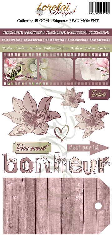 ETIQUETTES BEAU MOMENT BLOOM (LOT DE 10)