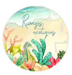 Badge Rivages exotiques - Collection Rivages exotiques