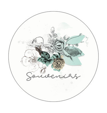 """Badge 02 """"Souvenirs"""" - Collection Parfum de roses"""