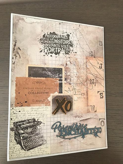 Fiche technique - Album scrap Parenthèse enchantée