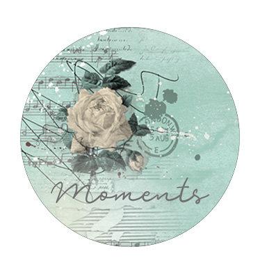 """Badge 05 """" Moments"""" - Collection Parfum de roses"""