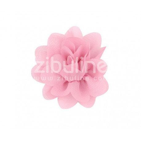 Fleur chiffon - Rose pâle