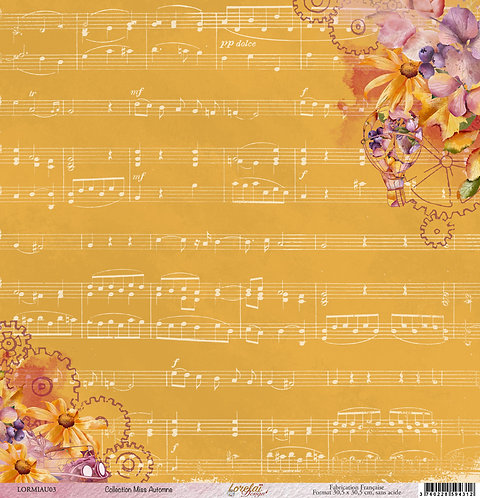 PAPIER 03 MISS AUTOMNE (LOT DE 25)
