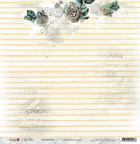 PAPIER SCRAP 04 RECTO VERSO - PARFUM DE ROSES