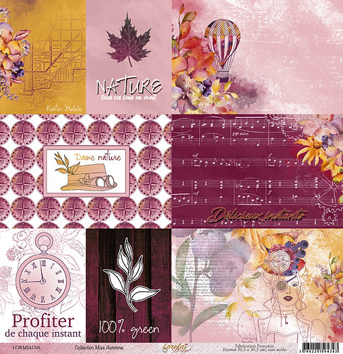 PAPIER 06 MISS AUTOMNE (LOT DE 10)