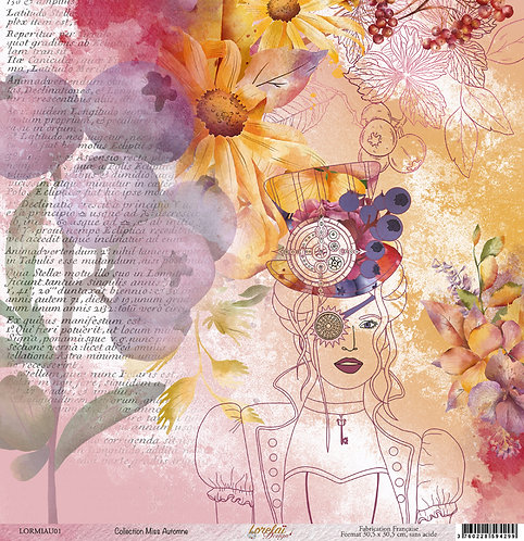 PAPIER 01 MISS AUTOMNE (LOT DE 10)