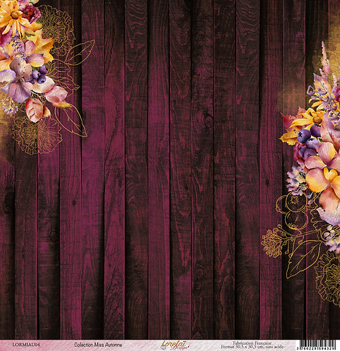 PAPIER 04 MISS AUTOMNE (LOT DE 25)