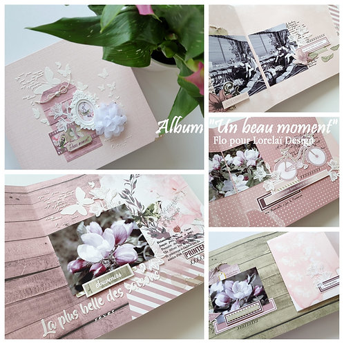 "KIT ALBUM BLOOM ""Un beau moment"" DE FLORENCE LECRIVAIN*"