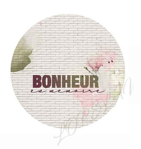 BADGES BONHEUR EN MEMOIRE BLOOM (LOT DE 5)
