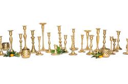 Brass Candlesticks and Votives
