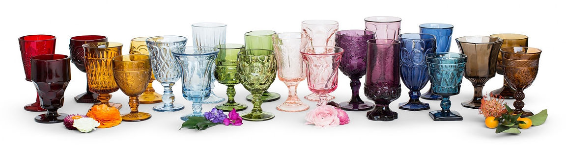 Colored Glassware for Rent
