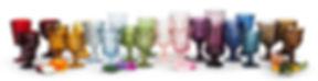 Colored Glassware for Rent