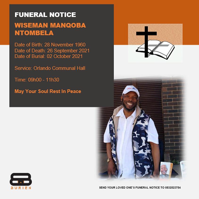 Funeral Notice Of The Late Wiseman Manqoba Ntombela
